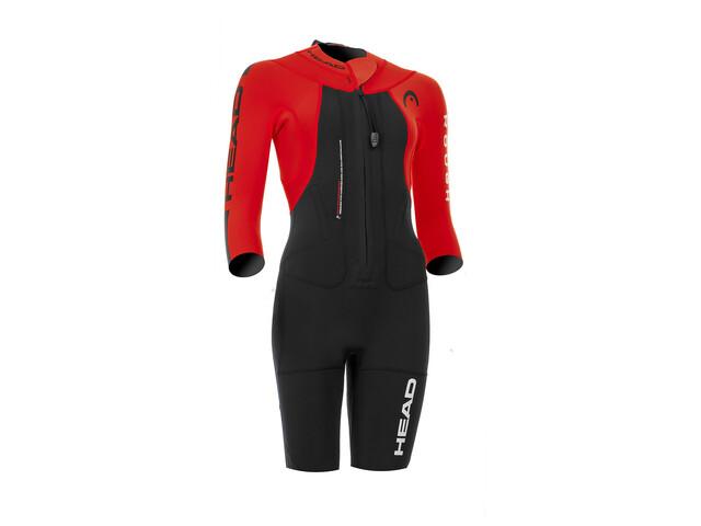 Head Swimrun Rough Combinaison manches courtes Femme, black-red